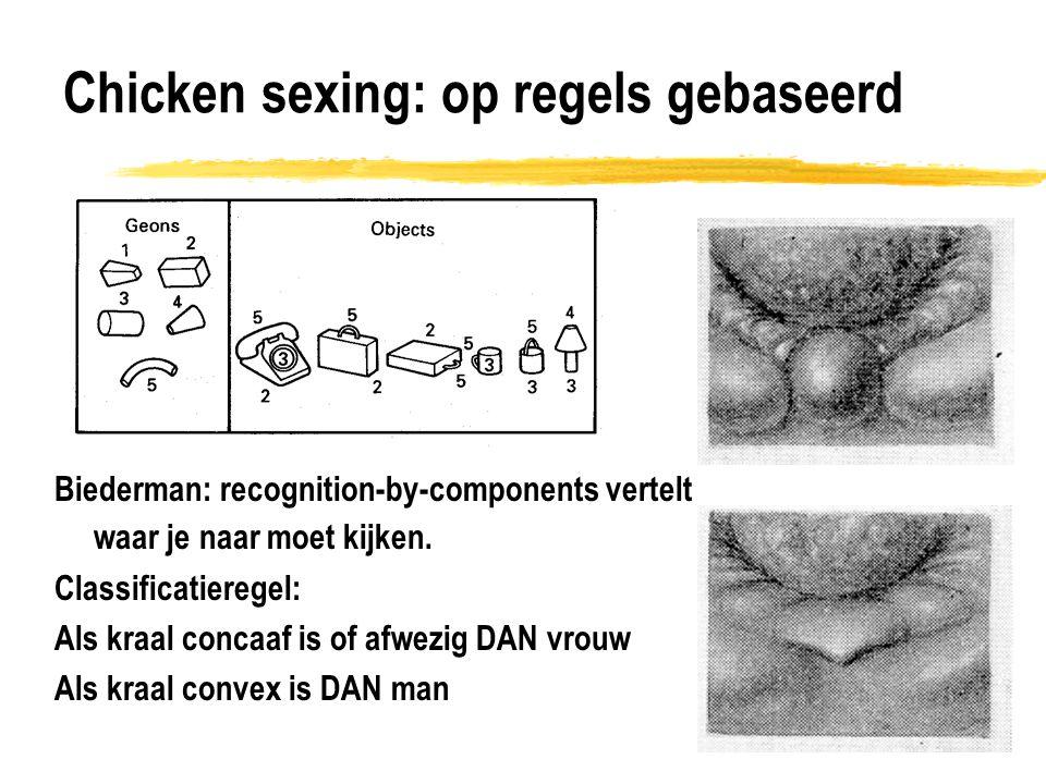 Chicken sexing: op regels gebaseerd