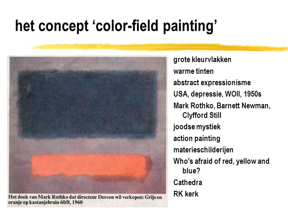 het concept 'color-field painting'