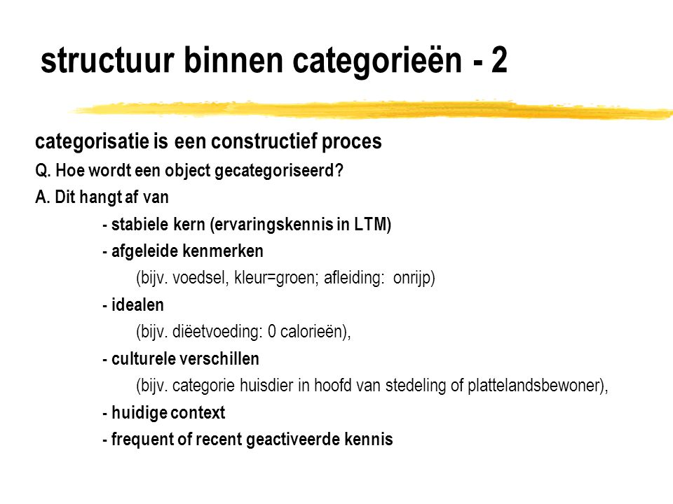 structuur binnen categorieën - 2