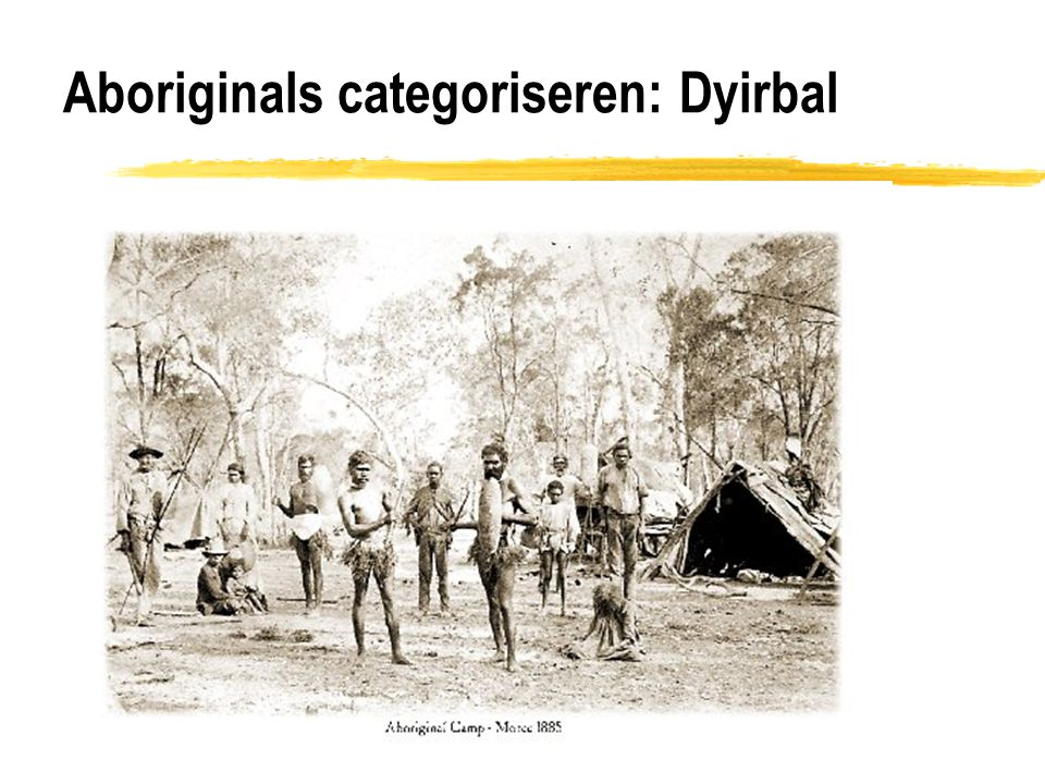 Aboriginals categoriseren: Dyirbal
