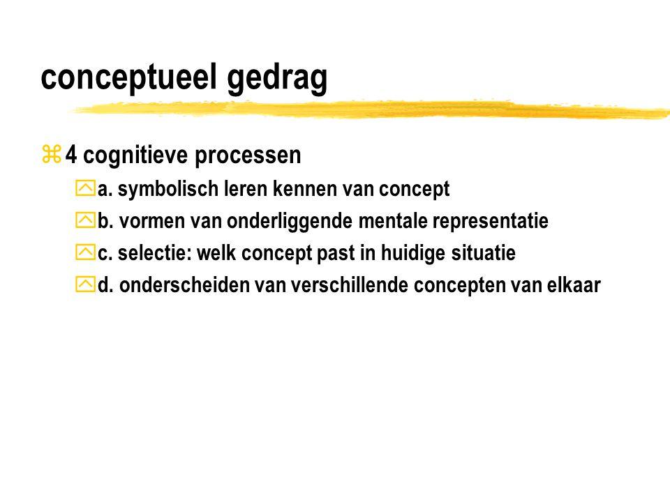 conceptueel gedrag 4 cognitieve processen