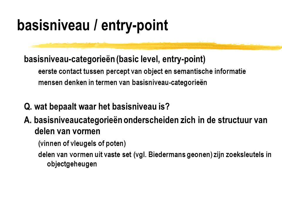 basisniveau / entry-point