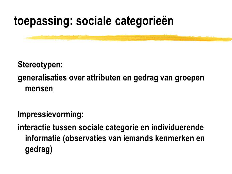 toepassing: sociale categorieën