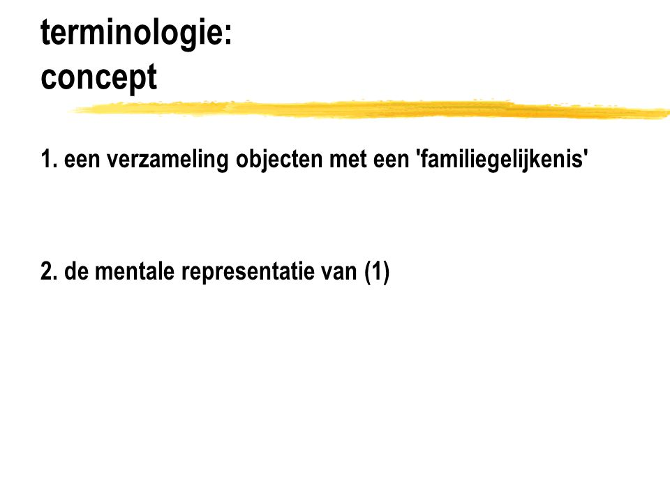 terminologie: concept