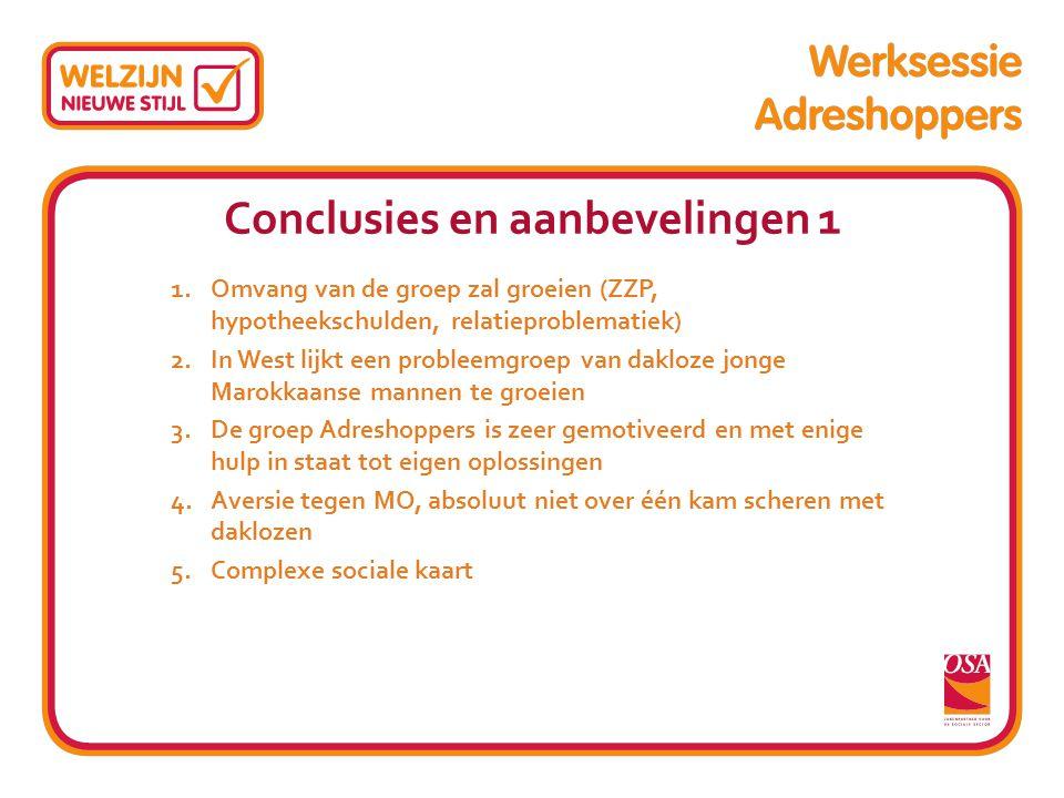 Conclusies en aanbevelingen 1