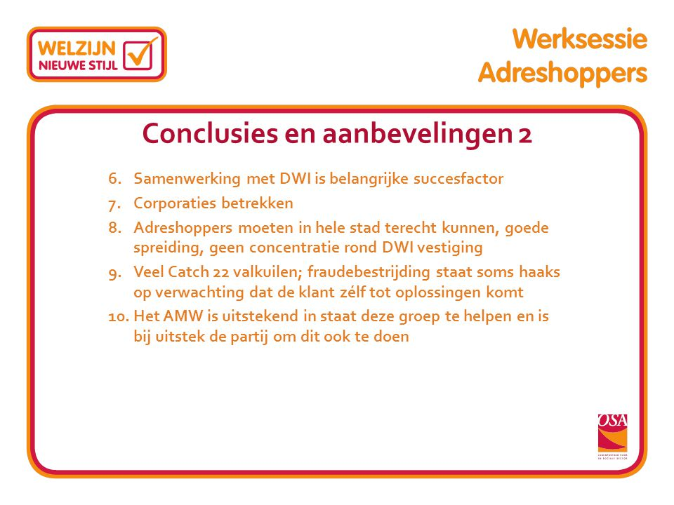 Conclusies en aanbevelingen 2