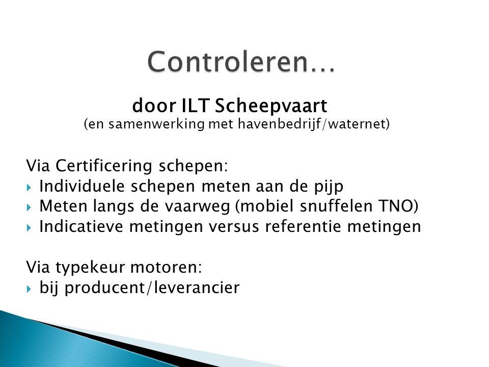 door ILT Scheepvaart (en samenwerking met havenbedrijf/waternet)