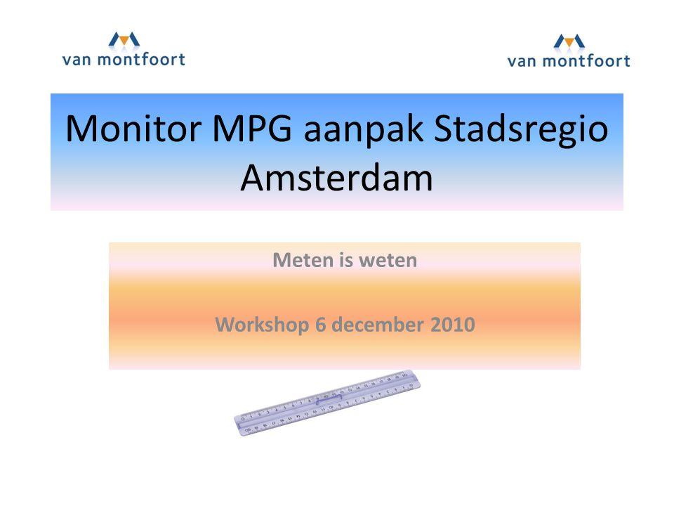 Monitor MPG aanpak Stadsregio Amsterdam