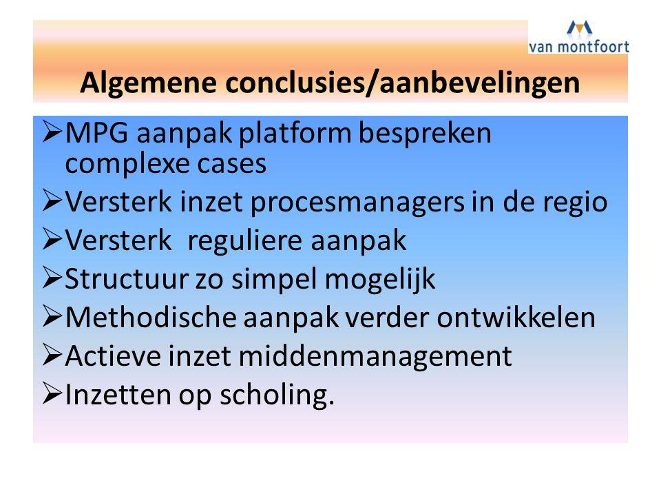 Algemene conclusies/aanbevelingen