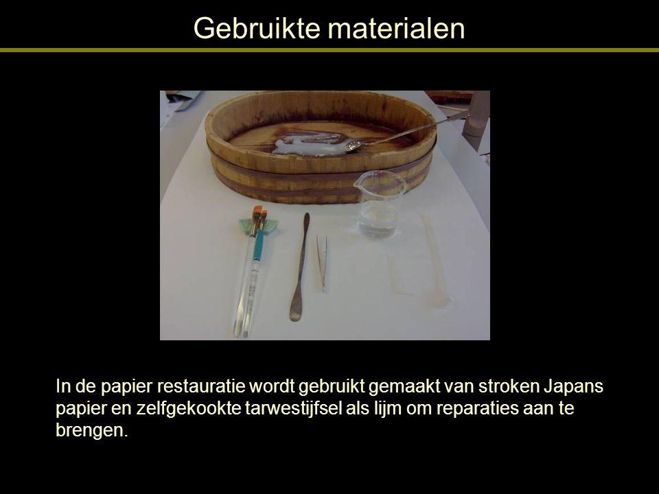 Gebruikte materialen