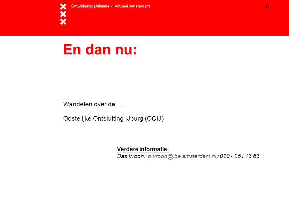 En dan nu: Wandelen over de …. Oostelijke Ontsluiting IJburg (OOIJ)