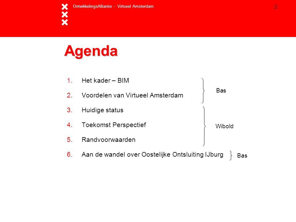 Agenda Het kader – BIM Voordelen van Virtueel Amsterdam Huidige status