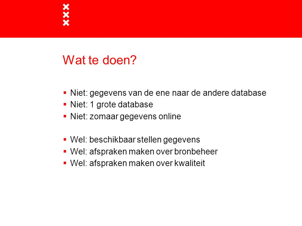 Wat te doen Niet: gegevens van de ene naar de andere database