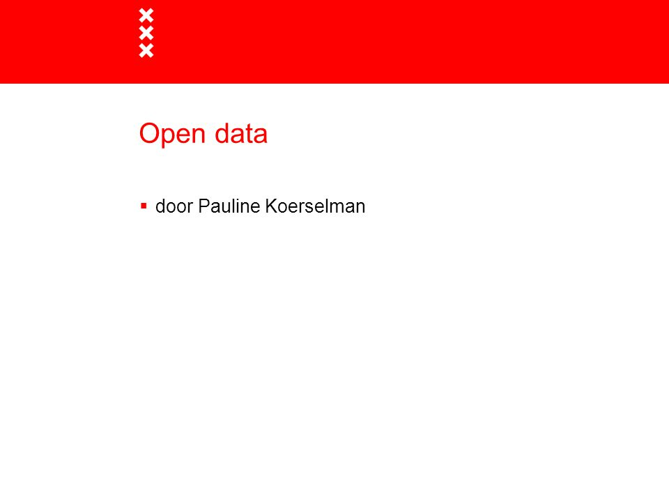 Open data door Pauline Koerselman