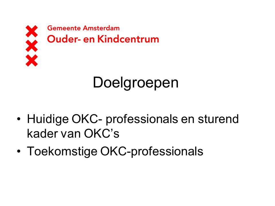 Doelgroepen Huidige OKC- professionals en sturend kader van OKC's