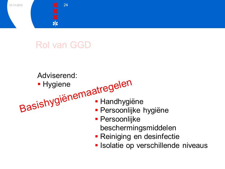 Rol van GGD Basishygiënemaatregelen