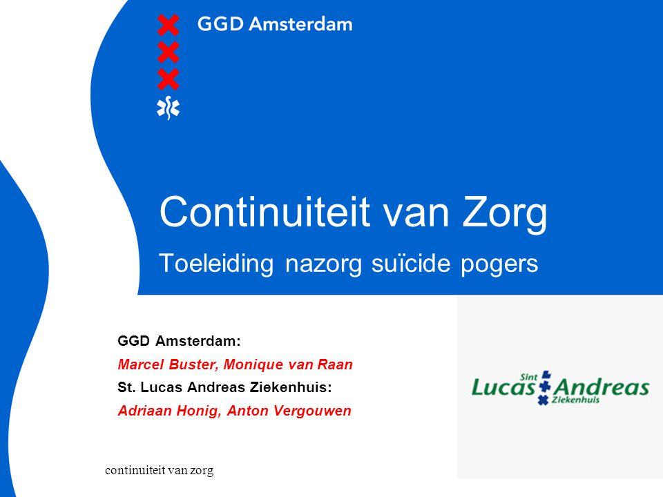 Continuiteit van Zorg Toeleiding nazorg suïcide pogers