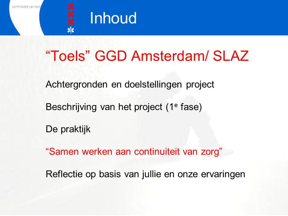 Toels GGD Amsterdam/ SLAZ