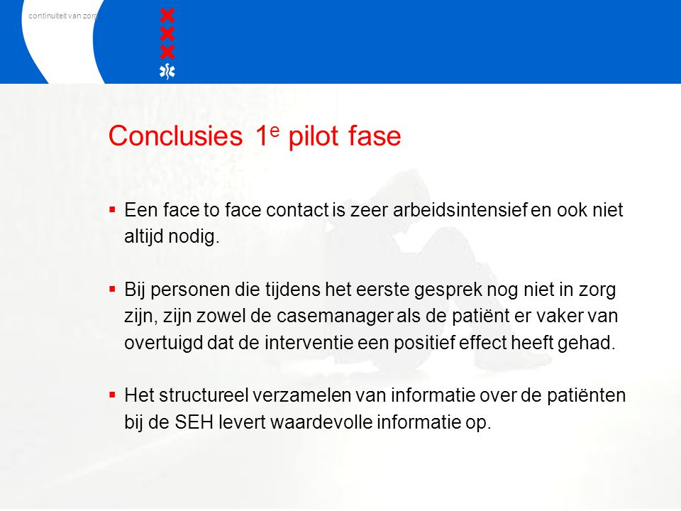 Conclusies 1e pilot fase