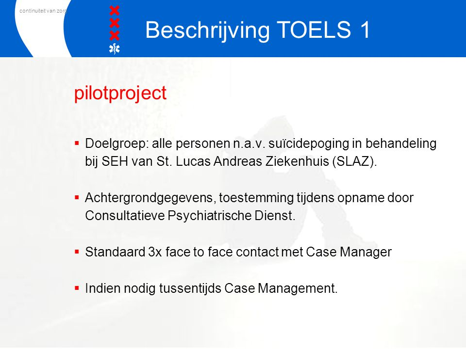 Beschrijving TOELS 1 pilotproject
