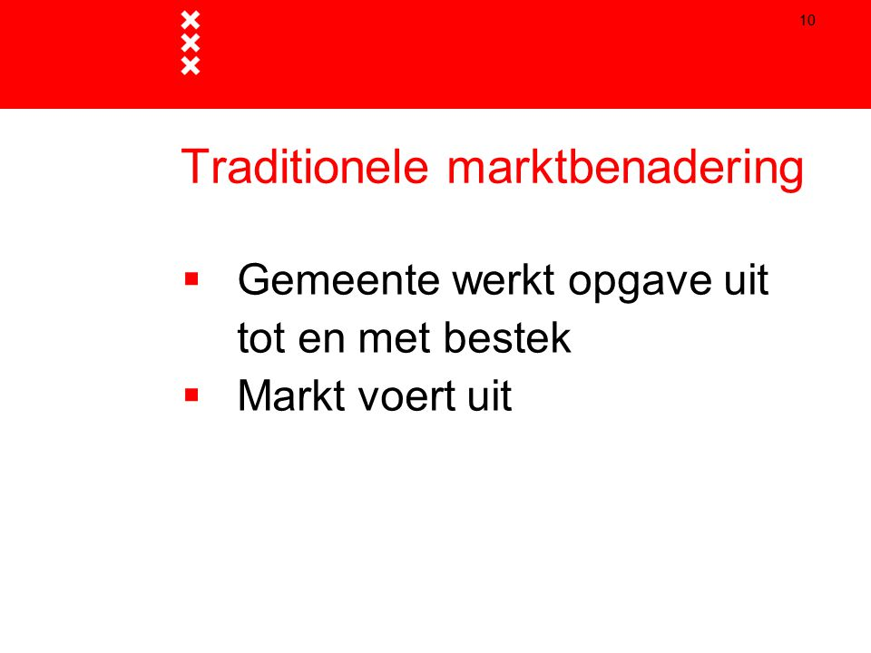 Traditionele marktbenadering