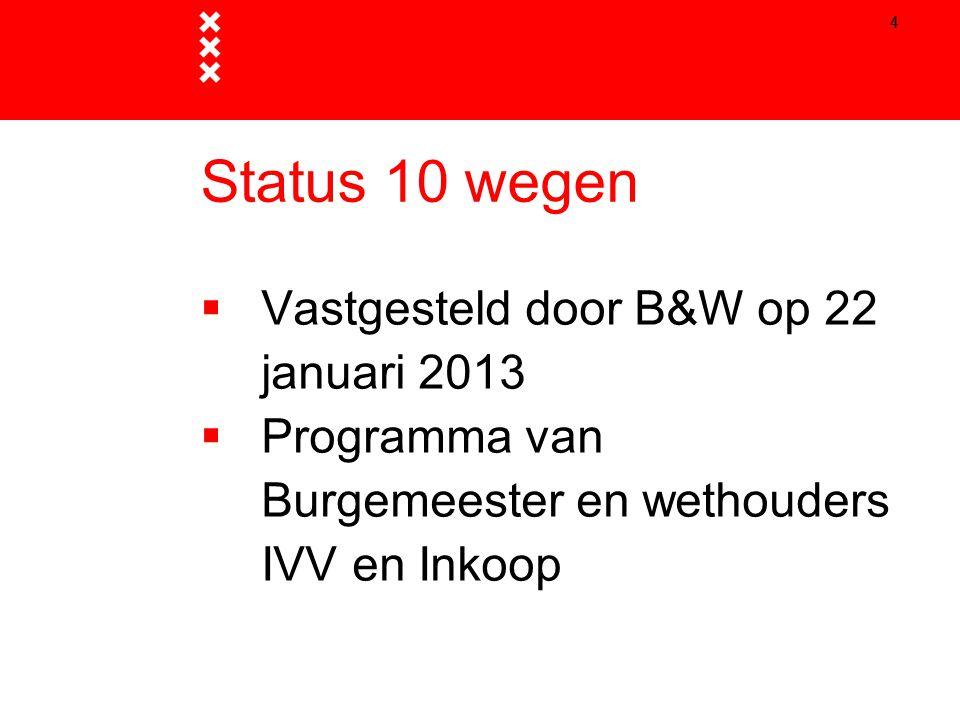 Status 10 wegen Vastgesteld door B&W op 22 januari 2013