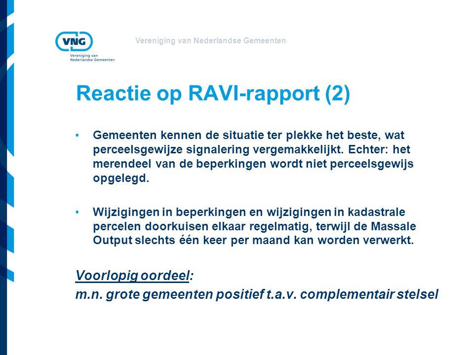 Reactie op RAVI-rapport (2)