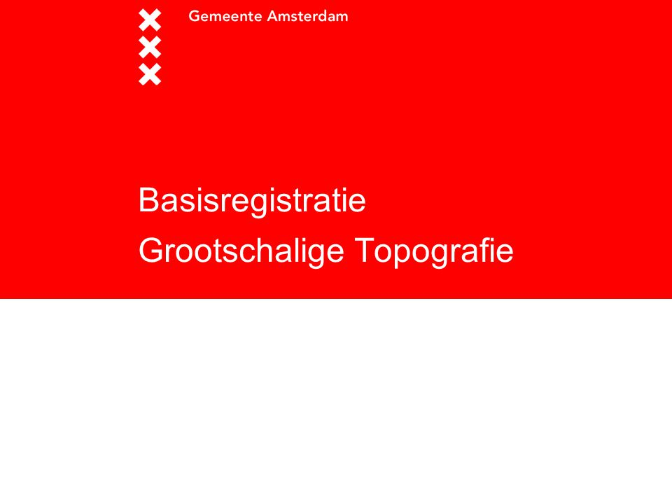 Basisregistratie Grootschalige Topografie