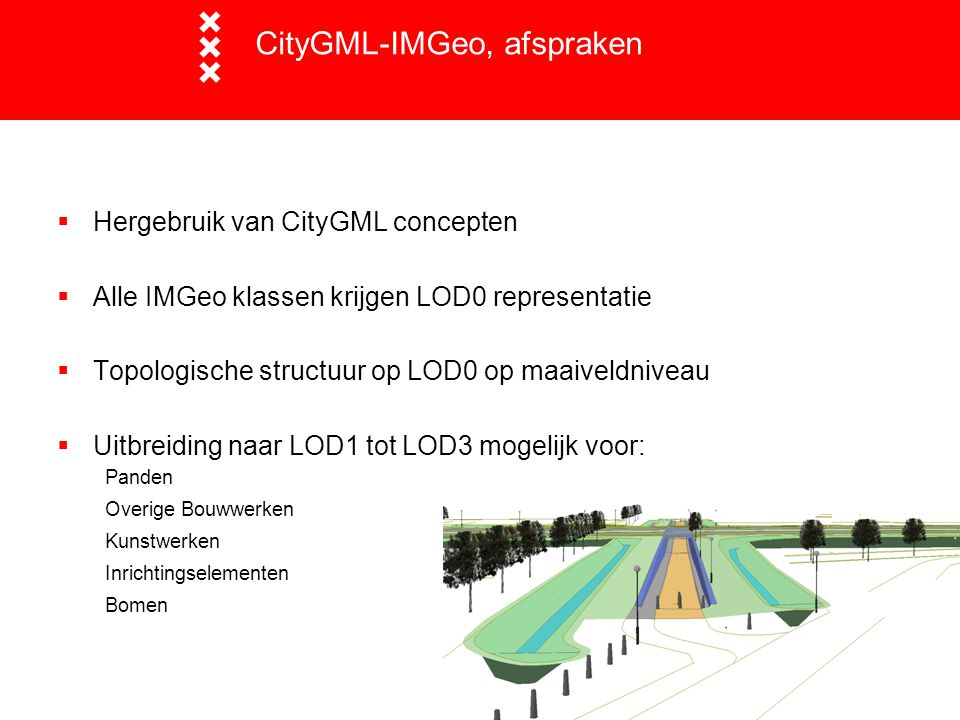 CityGML-IMGeo, afspraken