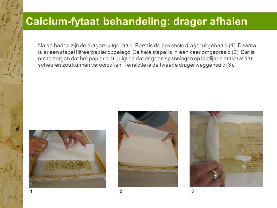 Calcium-fytaat behandeling: drager afhalen