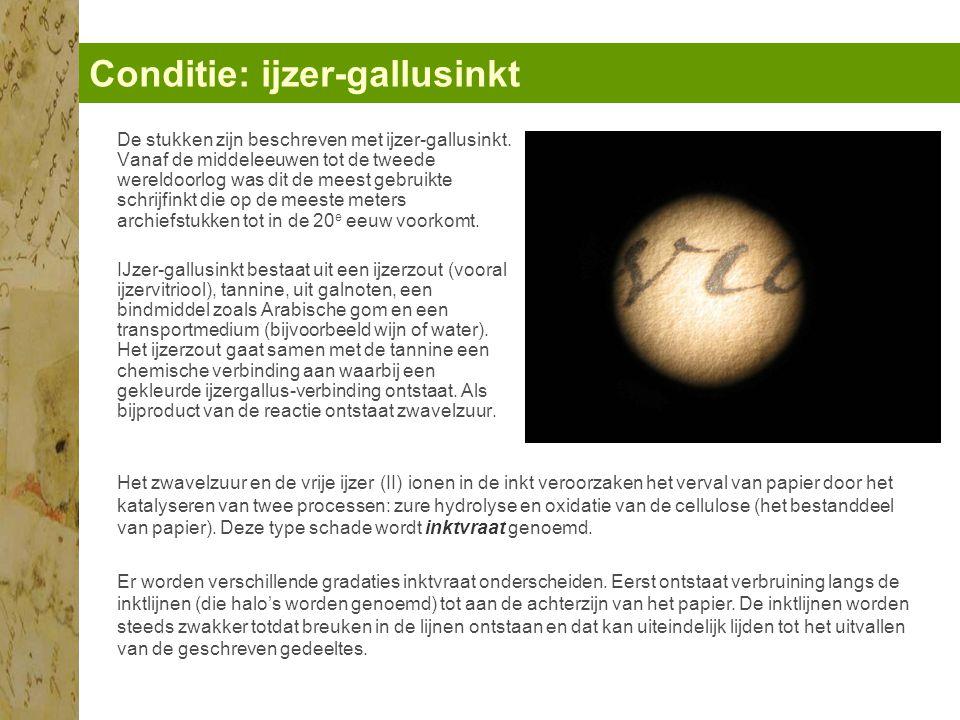 Conditie: ijzer-gallusinkt