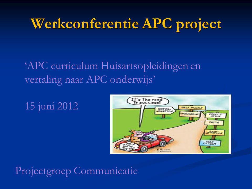 Werkconferentie APC project