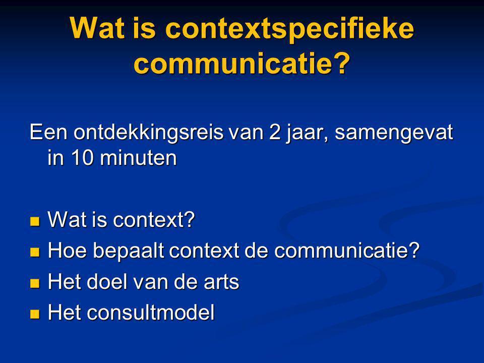 Wat is contextspecifieke communicatie