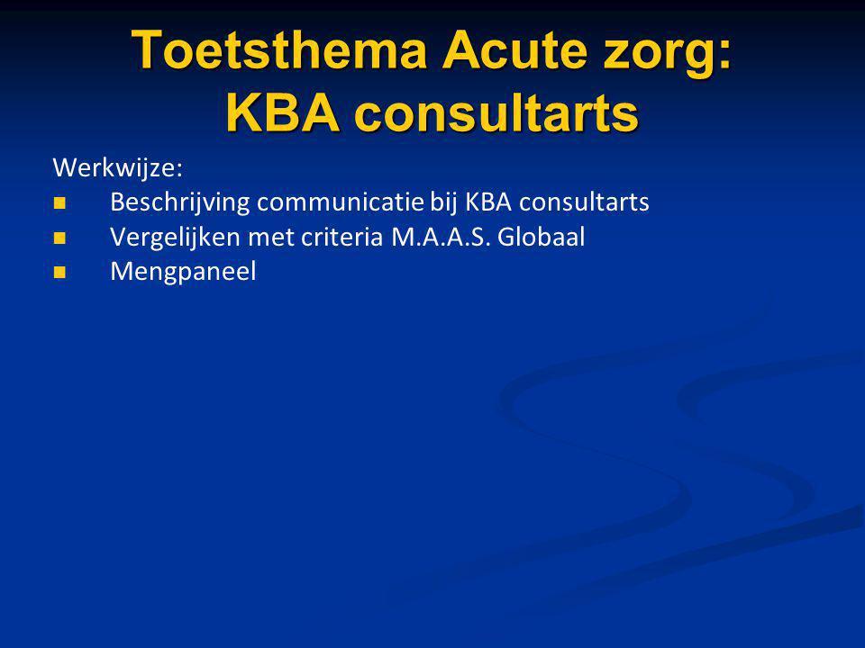 Toetsthema Acute zorg: KBA consultarts