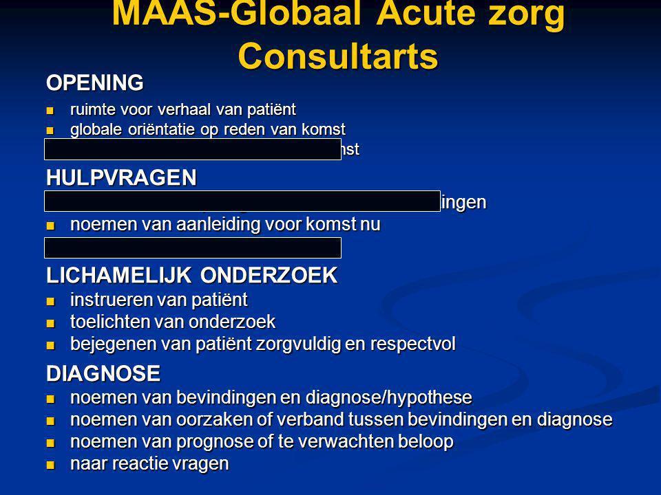 MAAS-Globaal Acute zorg Consultarts