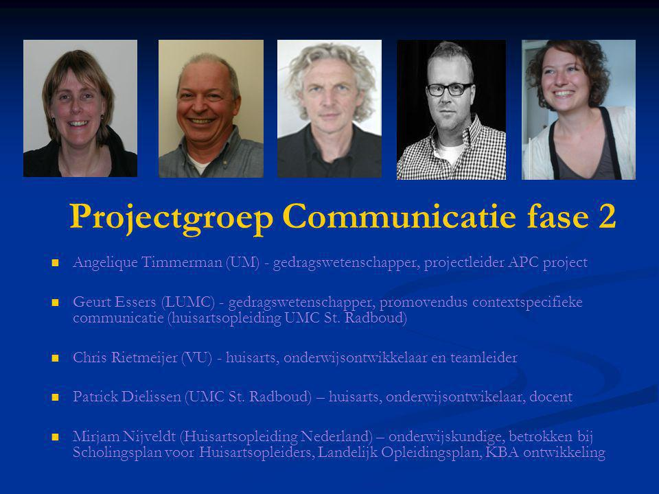 Projectgroep Communicatie fase 2