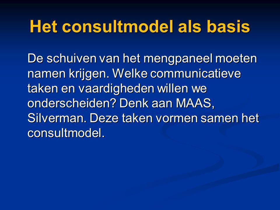 Het consultmodel als basis