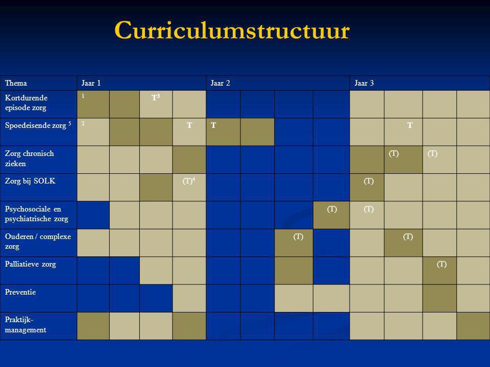Curriculumstructuur Thema Jaar 1 Jaar 2 Jaar 3