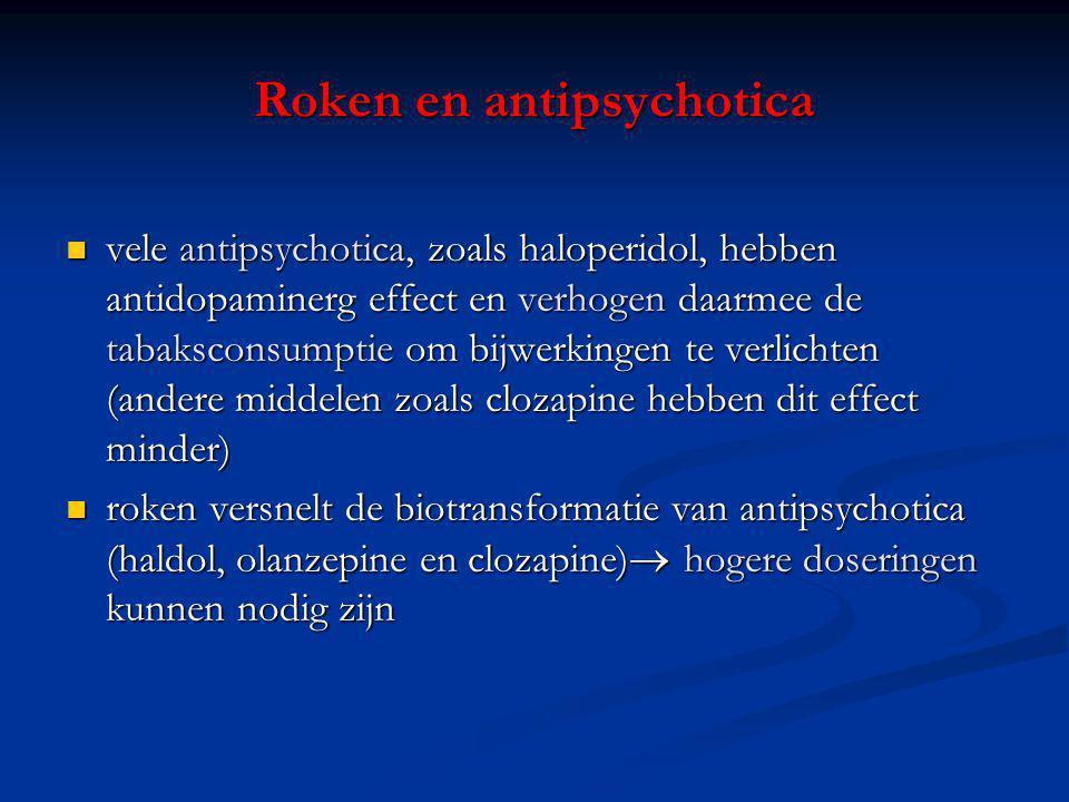 Roken en antipsychotica