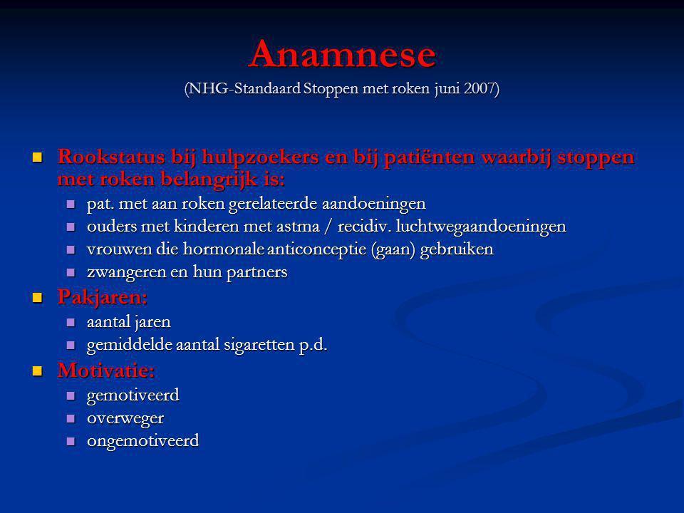 Anamnese (NHG-Standaard Stoppen met roken juni 2007)