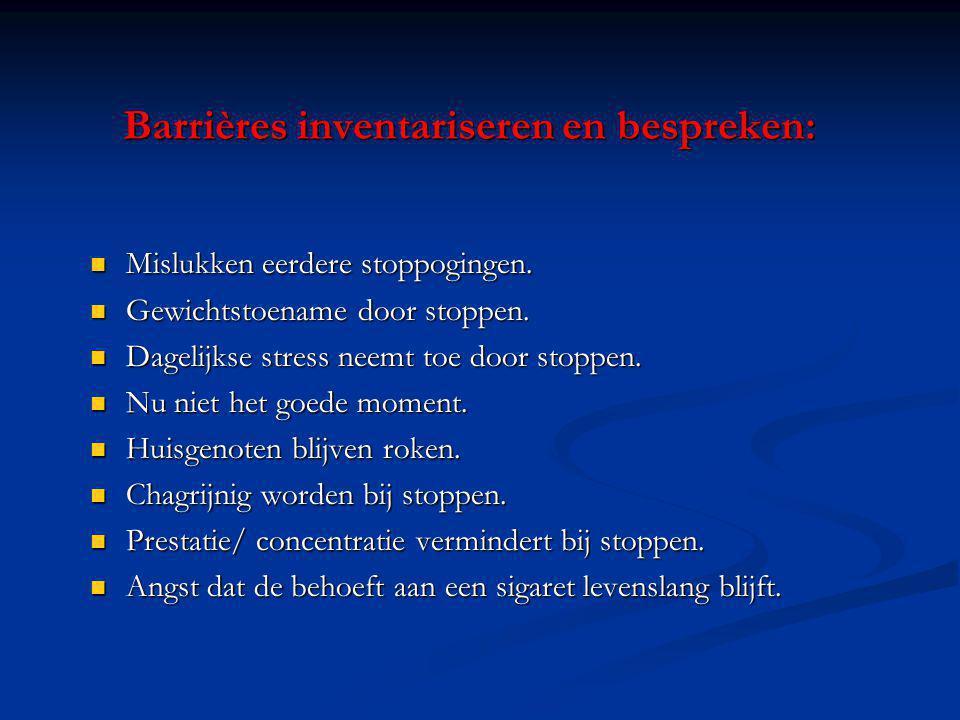 Barrières inventariseren en bespreken:
