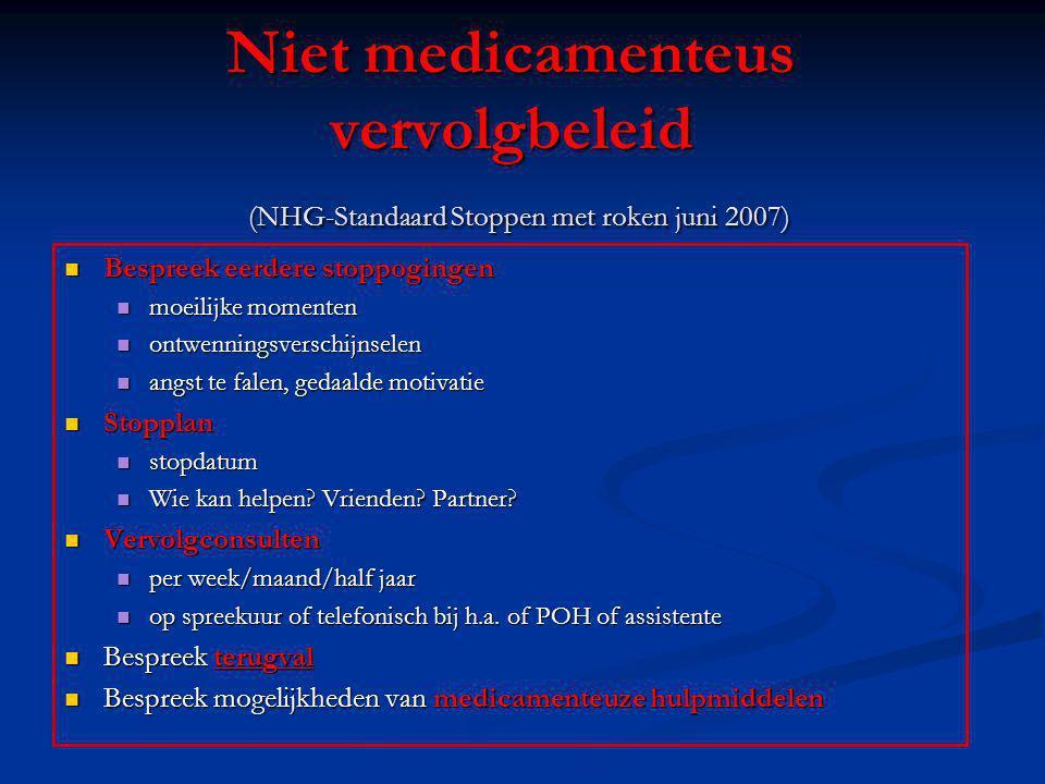 Niet medicamenteus vervolgbeleid (NHG-Standaard Stoppen met roken juni 2007)