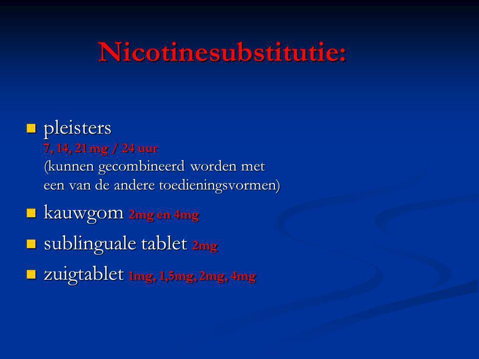 Nicotinesubstitutie: