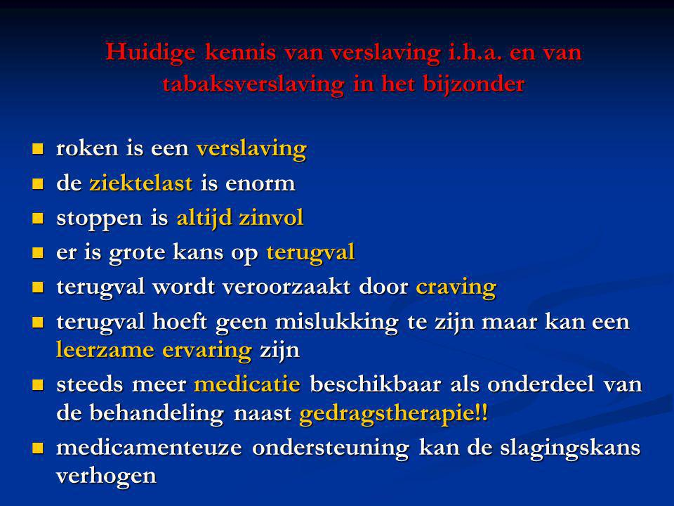 Huidige kennis van verslaving i. h. a