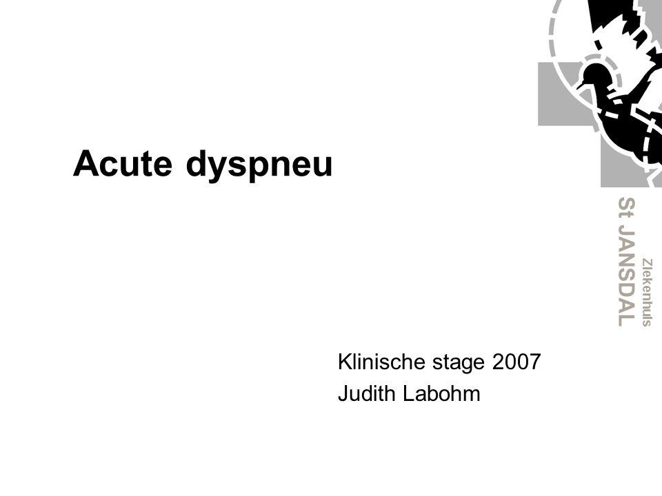 Klinische stage 2007 Judith Labohm