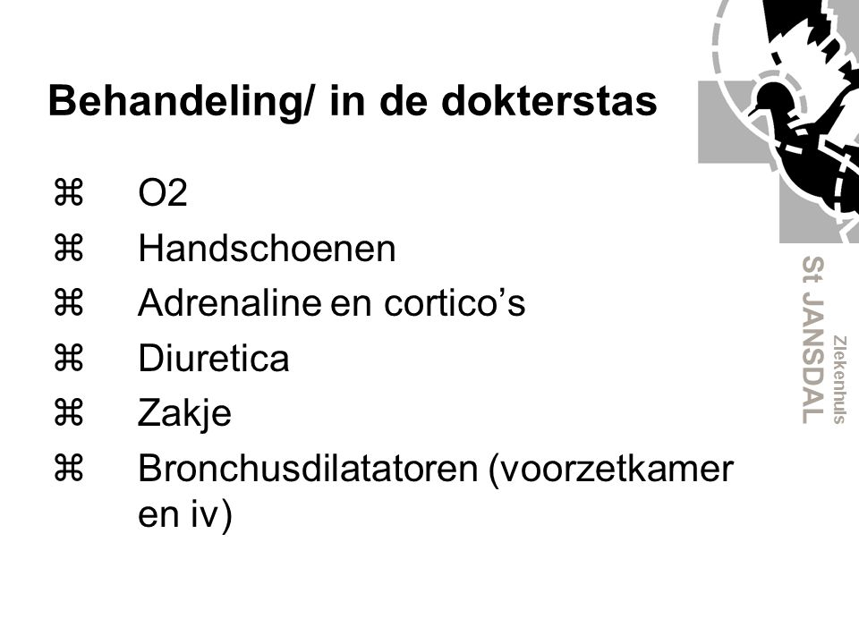 Behandeling/ in de dokterstas