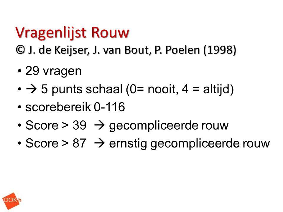 Vragenlijst Rouw © J. de Keijser, J. van Bout, P. Poelen (1998)