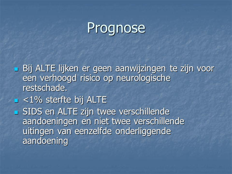 Prognose Bij ALTE lijken er geen aanwijzingen te zijn voor een verhoogd risico op neurologische restschade.