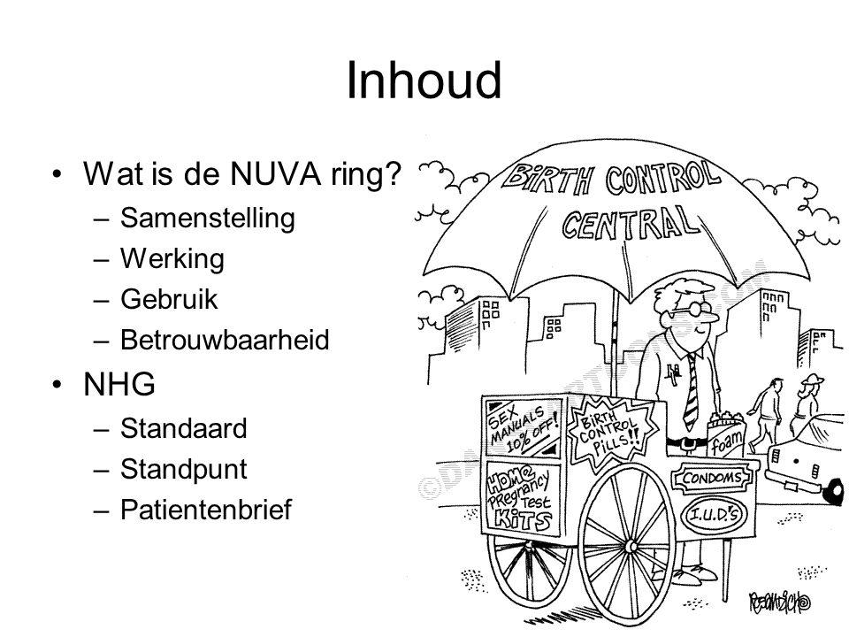 Inhoud Wat is de NUVA ring NHG Samenstelling Werking Gebruik