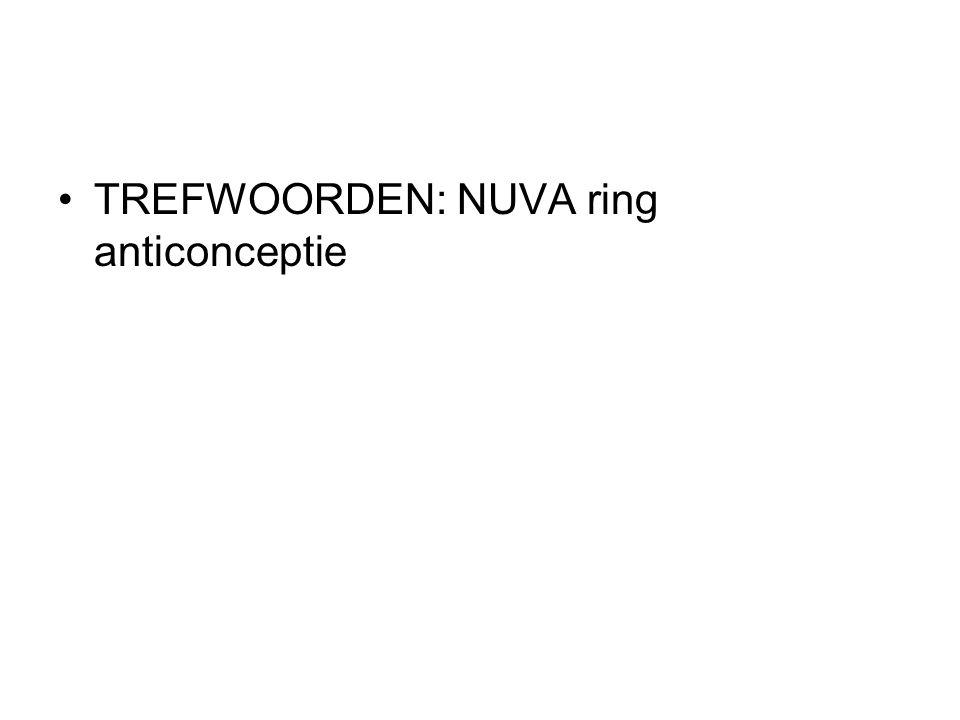 TREFWOORDEN: NUVA ring anticonceptie